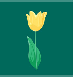 vintage yellow tulip flower can be used as vector image