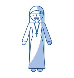 Catholic nun avatar character vector