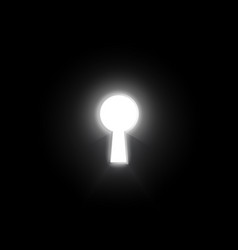 Glow key hole on dark wall business concept vector