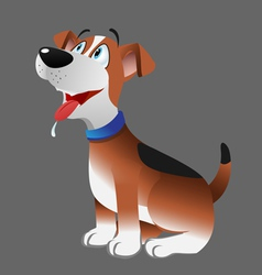 Dog beagle panting vector