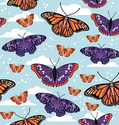 Butterfly pattern design vector