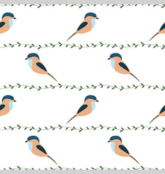 Seamless pattern with animals colorful birds vector