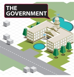 Map isometric the government vector
