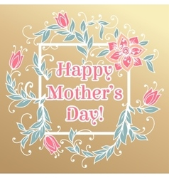 Happy mothers day hand drawing floral vector