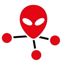 Alien Connections Flat Icon vector image vector image