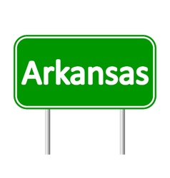 Arkansas green road sign vector
