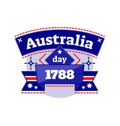 Australia day 1788 logo badge vector