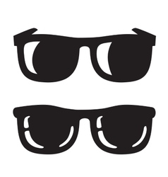 black Sunglasse icons vector image vector image