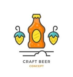 Craft beer concept vector
