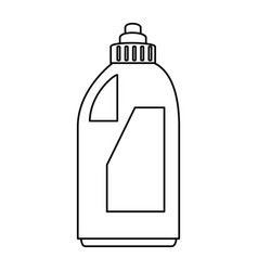 detergent bottle isolated icon vector image vector image