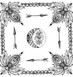 drawn frame vector image