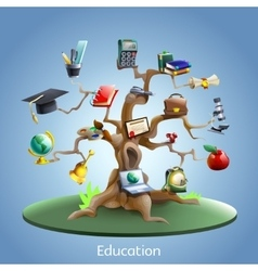 Education tree concept vector