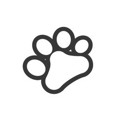 Foot print love pet animal icon graphic vector