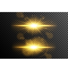 Glowing light effects collection vector image vector image