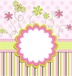 greeting card design vector image