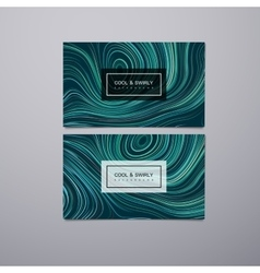 Greeting invitation or business cards design vector image vector image