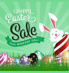 Happy easter sale promotion vector