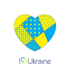 Heart of Ukraine vector image vector image