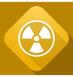 icon of Radiation Sign with a long shadow vector image vector image