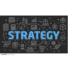 lines template strategy vector image