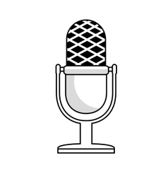microphone vintage monochrome icon vector image vector image
