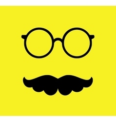 Mustache and Glasses Flat vector image