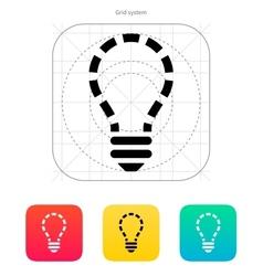 No light icon vector image vector image