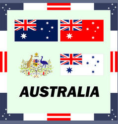 official government elements of australia vector image vector image