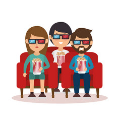 People with glasses 3d vector