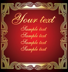 Red and Gold Vintage Frame vector image