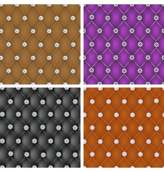 Set of upholstery seamless pattern vector image vector image