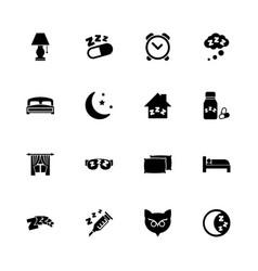 sleep - flat icons vector image