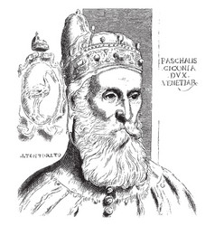 The doge pascale ciconia was an etching by vector