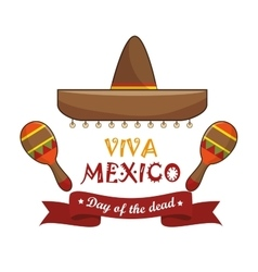 icons music maracas mexico design vector image