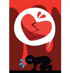 heartbreak vector image