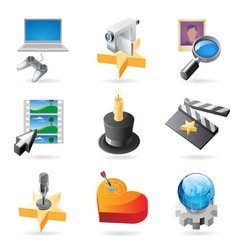 Icon concepts for media vector image