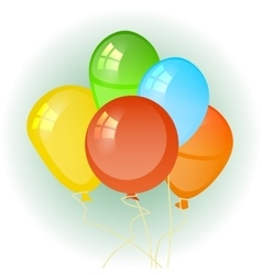 balloons in the form of a circle vector image