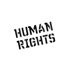 Human Rights rubber stamp vector image