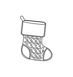 sihouette christmas boots icon vector image