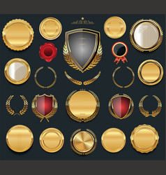 Luxury golden design elements collection vector