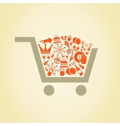 Holiday a cart vector image