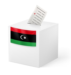 Ballot box with voting paper libya vector