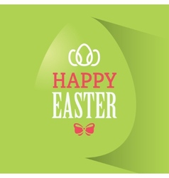 Happy easter green banner vector