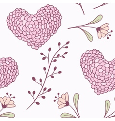 Handdrawn floral seamless pattern vector image
