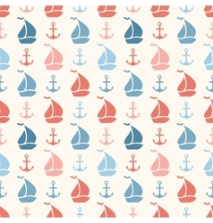 Seamless pattern of anchor sailboat shape vector