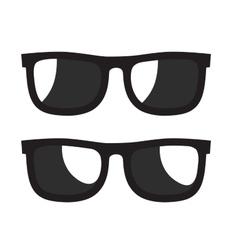 black Sunglasse icons vector image