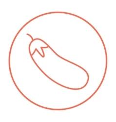 Eggplant line icon vector