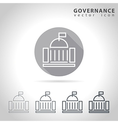 Governance outline icon vector