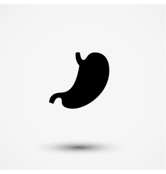 Flat black modern stomach gaster icon vector