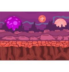 Beautiful panorama cartoon on the planet vector